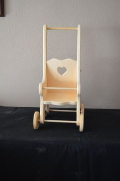Handcrafted Wooden Doll Stroller by OklahomaToymakers on Etsy