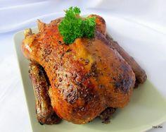 Kachna pečená pětihodinová kachna bez drobů (cca 2 500 g) jablko sůl kmín Jak na to   - kačenu očistit, odříznout krk ...