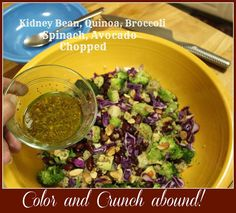 #Kidney Bean, #Quinoa, Broccoli, #Spinach, Avocado Chopped