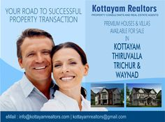 Kottayam Realtors Villas / Houses / Apartments available at serene and beautiful locations around Kerala