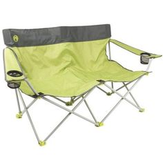 Coleman Outdoor Coleman Quattro Lax Double Quad Camp Chair - a camping love seat! Quad, Camping Furniture, Outdoor Furniture, Wood Furniture, Furniture Ideas, Compact, Hatch Pattern, Folding Camping Chairs, Folding Chairs