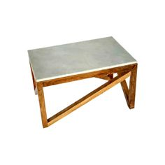 Wood and Marble Coffee Table-Target