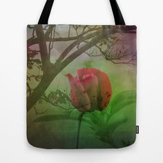 Dipped in Dew, Nestled by Nature Tote Bag by Donuts - $22.00