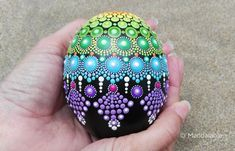 Image of Egg-shaped Mandala painted stone Informations About Products Pin You can easily use my prof Dot Art Painting, Pebble Painting, Pebble Art, Stone Painting, Painting Eggs, Mandala Painted Rocks, Mandala Rocks, Hand Painted Rocks, Painted Stones