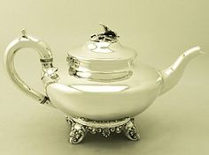 Antique English Teapot - Victorian Sterling Silver SKU: W9815 Price GBP £1,295.00 http://www.acsilver.co.uk/shop/pc/Sterling-Silver-Teapot-Antique-Victorian