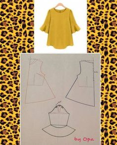 Sewing blouse diy 49 ideas Effective Pictures We Offer You About Women Blouse for party A quality picture can tell you many things. You can find the most beautiful pictures that can be presented to you about Women Blouse cott Dress Sewing Patterns, Blouse Patterns, Clothing Patterns, Blouse Designs, Fashion Pattern, Sewing Blouses, Blog Couture, Techniques Couture, Diy Dress