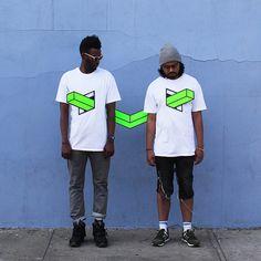 People Skewered with Geometric Shapes by Aakash Nihalani tape street art geometric
