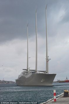 The468ft-long vessel, owned by Russian billionaireAndrey Melnichenko, stunned locals in Gibraltar as it towered from the water as it resumed testing.
