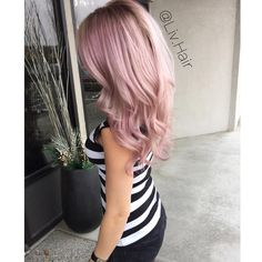 """Loving my new hair done by @liv.hair  We mixed @wellahair instamatics pink dream and smokey amethyst!  #cosmoprof #wella #licensedtocreate #modernsalon…"""