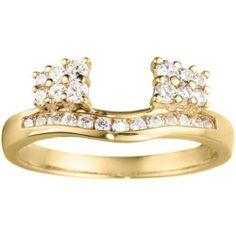 14k White Gold Cubic Zirconia Anniversary Wedding Ring Wrap . $355.00