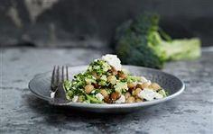Kikærter med broccoli og feta