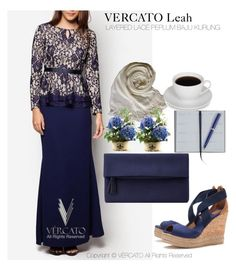 VERCATO Leah Baju Kurung Moden by vercato on Polyvore featuring Tory Burch, John Lewis and Smythson