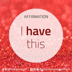 "Affirmation: ""I have this"" #abundance #positive #lawofattraction #loa #affirmation #affirmations #positiveaffirmations #positiveaffirmation #success #happiness #motivation #motivational #abundant #successtrain #manifest #achieve #joytrain #ThriveTOGETHER"