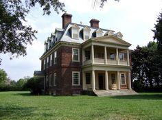 Jamestown Plantation near the James River in Jamestown, Virginia
