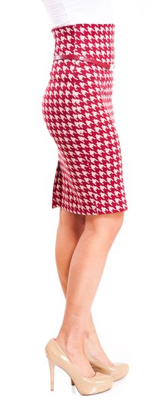 High-Waisted Print Skirt.