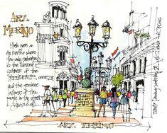 James Richards Sketchbook: Life from a Sidewalk Table
