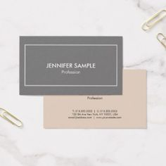 Stylish Professional Elegant Colors Modern Luxury Business Card - professional gifts custom personal diy
