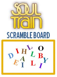 Soul Train Scramble Board - idea for a party game