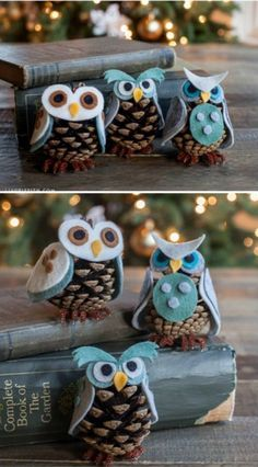 This is so cute anytime. Pinecone Owls - 20 Magical DIY Christmas Home Decorations You'll Want Right Now This is so cute anytime. Pinecone Owls - 20 Magical DIY Christmas Home Decorations You'll Want Right Now Noel Christmas, Diy Christmas Ornaments, Diy Christmas Gifts, Holiday Crafts, Holiday Fun, Christmas Ideas, Ornaments Ideas, Christmas 2019, Diy Christmas Home Decor