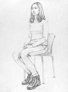 대구화실, 미술, 회화, 정물수채화, 정물소묘, 인체수채화, 인체소묘, 입시미술, 취미미술, 서양화, 유화, 그림 과정작 자료실, 前달동네 그림연구실 Human Figure Sketches, Human Sketch, Figure Sketching, Figure Drawing, Sketches Of People, Art Sketches, Colorful Drawings, Easy Drawings, Sketch Box