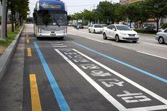 """الطرق الكهربائية"""" تقنية ثورية في كوريا الجنوبية تقوم بشحن الباصات الكهربائية اثناء تنقلها داخل المدن"""