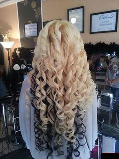 ♡ Yeah, I would totally love if a guy grew his hair this long for me. And I would totally keep him in curls! Best Human Hair Extensions, Clip In Hair Extensions, Long Curly Hair, Curly Hair Styles, Natural Hair Styles, Permed Hairstyles, Pretty Hairstyles, Cheer Hairstyles, Hairdos