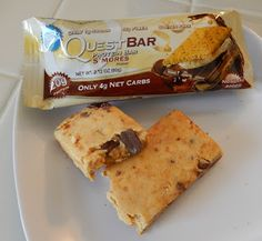 theworldaccordingtoeggface: Post Weight Loss Surgery Menus: S'mores Quest Bar #protein #bar #Quest