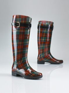 Ralph Lauren rain boots.. must have these for rainy days next year