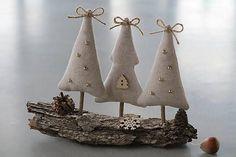 Vianočné stromčeky na kôre / Sujar - SAShE.sk - Handmade Dekorácie