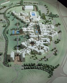 American University of Cairo, model of competition winning project for new Campus.