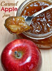 a Latte& with Ott, A: Holiday gift: Carmel Apple Jam I can& wait to try. a Latte& with Ott, A: Holiday gift: Carmel Apple Jam I can& wait to try. a Latte& with Ott, A: Holiday gift: Carmel Apple Jam I can& wait to try this recipe for apples! Canning Apples, Apple Recipes For Canning, Apple Butter Canning, Crockpot Apple Butter, Recipes For Apples, Preserving Apples, Canning Apple Pie Filling, Apple Pie Jam, Pressure Canning Recipes