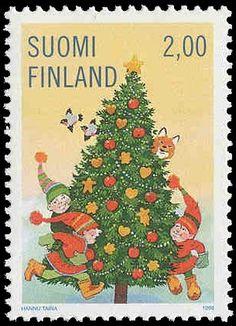 Joulupostimerkki 1998 1/3 - Joulukuusi - Sulje napsauttamalla kuvaa