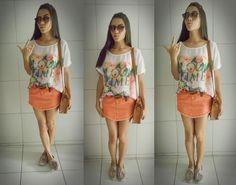 Saia color + camiseta