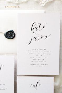 Really pretty and so simple. #minimalistwedding #minimalistweddinginvitations #weddinginvitations