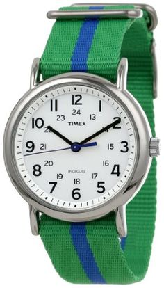 "... Weekender"" Green and Blue Nylon Strap Watch, unisex-adult, Green/Blue - Sport watches can help you track running distance, time split laps and much more .Shop online for sport & fitness watches at: topsmartwatchesonline.com"
