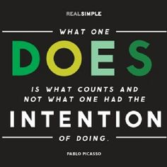 Intention versus completion