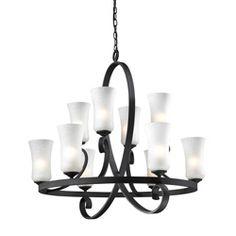 Arshe 10-light Bronze Chandelier   Overstock.com Shopping - Great Deals on Z-Lite Chandeliers & Pendants