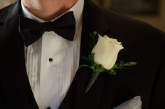 classic white rose boutineer - Google Search