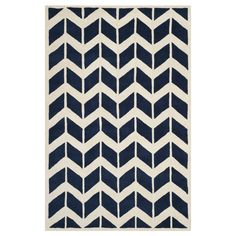 Safavieh CHT746C Chatham Dark Blue and Ivory Area Rug at Lowe's Canada
