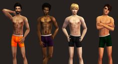 Boxer Brief SetAfter I finished making this lace bralette and undie set, I realized that male sims also don't have many underwear options. To remedy this, here are some boxers briefs for your male...