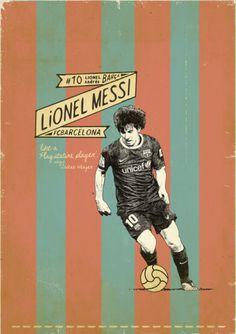 Lionel Messi - soccer, football poster - by Zoran Lucic Art Football, Soccer Art, Retro Football, Vintage Football, Nike Football, Messi Poster, Soccer Poster, Ronaldo, Suckers