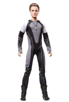 The always compassionate Peeta returns in The Hunger Games: Catching Fire to protect Katniss in the 75th Annual Hunger Games. Inspired by the outfits worn by Tributes, Peeta wears a futuristic body suit with knee pads, elbow guards and short boots. A golden locket, featured in a pivotal scene in the film, hangs from his neck.