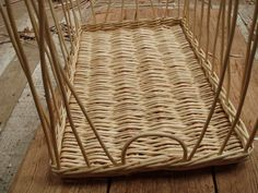 "white basket 14 x 22 x 5"" high, Loop made to create finger hole on one end."