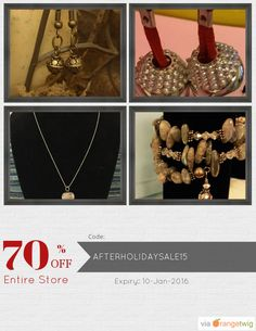 We are happy to announce 70% OFF our Entire Store. Coupon Code: AFTERHOLIDAYSALE15 Expiry: 10-Jan-2016 Click here to view all products: