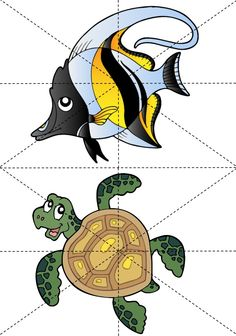 * Puzzel: Vissen! 5-9 Sorting Activities, Infant Activities, Shell Drawing, Diy Origami, Busy Bags, Driftwood Art, Thinking Skills, Preschool Kindergarten, Worksheets For Kids