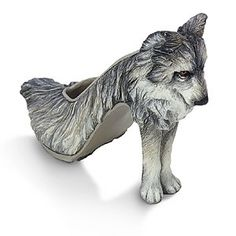 most unusual shoes (I love wolves!)