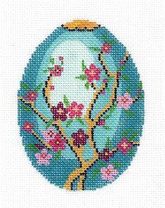 *****Lee Jeweled Egg Handpainted Needlepoint Canvas HP 462