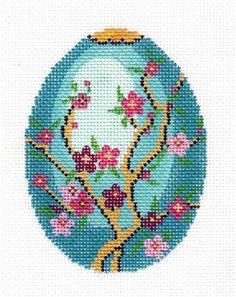 *****Lee Jeweled Egg Handpainted Needlepoint Canvas HP 462