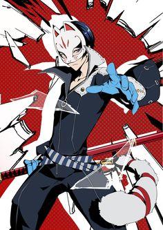 Tags: Fanart, Pixiv, Palesnow, Fanart From Pixiv, Shin Megami Tensei: PERSONA 5, Kitagawa Yuusuke, Fox (Persona 5)