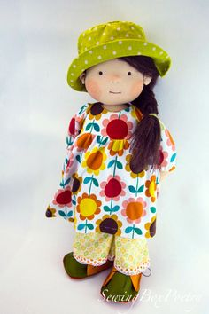 RESERVED Waldorf inspired Doll 18'' Cloth doll by mARTicreates